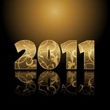 Karte des neuen Jahres Stockbild