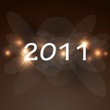 Karte des neuen Jahres 2011 Stockbilder