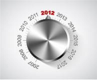 Karte des neuen Jahres 2012 lizenzfreie abbildung