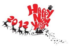 Karte des neuen Jahres Stockfoto