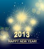 Karte des neuen Jahres lizenzfreie abbildung