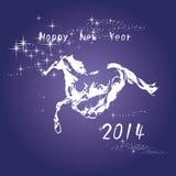 Karte des neuen Jahres 2014 Stockfoto