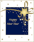 Karte des neuen Jahres Stockfotos
