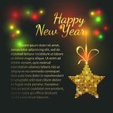 Karte des neuen Jahres stock abbildung