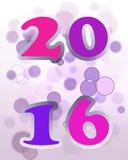 Karte des neuen Jahres 2016 Stockfotos