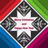 Karte des neuen Jahres gemacht in der materiellen Designart Lizenzfreie Stockfotos