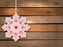 Karte des neuen Jahres mit Schneeflocke Stockfoto