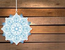 Karte des neuen Jahres mit Schneeflocke Lizenzfreie Stockfotos