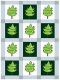 Karte des neuen Jahres mit Tannenbäumen lizenzfreie abbildung