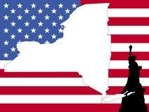 Karte des New- Yorkhintergrundes Stockfoto