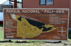Karte des Parks Pali Aike Lizenzfreie Stockfotos