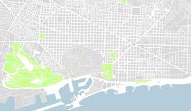 Karte des Stadtzentrums von Barcelona, Spanien stock abbildung