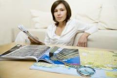Karte des Touristen   Lizenzfreie Stockfotos