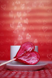 Karte des Valentinsgrußes Stockfoto