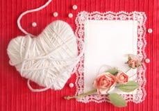 Karte des Valentinsgrußes Lizenzfreie Stockfotografie
