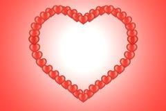 Karte des Valentinsgrußes mit Innerem Stockbilder
