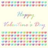 Karte des Valentinsgrußes s Tagesmit netten Herzen Lizenzfreie Stockfotos