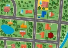 Karte des Vorortbezirkes Stockbilder