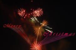 Karte des Weihnachtsfeuerwerks 3d Lizenzfreies Stockbild