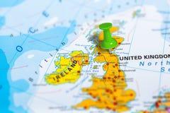 Karte Edinburg Schottland Lizenzfreie Stockfotos