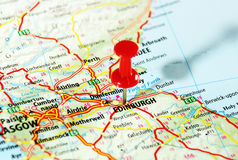 Karte Edinburghs Schottland Stockfotografie