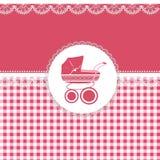 Karte für Baby in den rosa Tönen Stockfotografie
