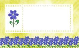 Karte für ein Foto oder eine Einladung Stockfotografie
