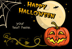 Karte für Halloween Lizenzfreie Stockbilder