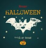 Karte für Halloween Lizenzfreies Stockbild