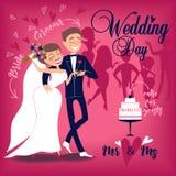 Karte für Hochzeitstag Lizenzfreie Stockfotos