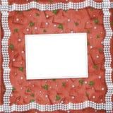 Karte für Jahrestag zu St.-Valentinstag Lizenzfreies Stockfoto