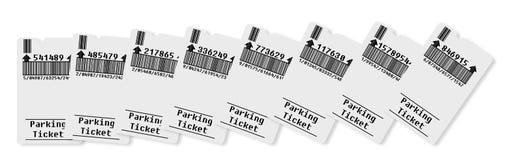 Karte für Parkplatz (Konzeptbild) Stockfotografie