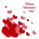 Karte für Valentine Day lizenzfreie abbildung