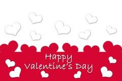 Karte für Valentine& x27; s-Tag Lizenzfreies Stockfoto