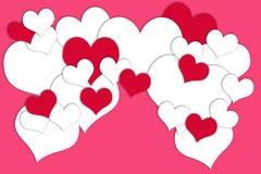 Karte für Valentine& x27; s-Tag Stockbilder