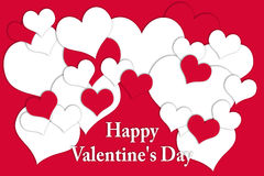 Karte für Valentine& x27; s-Tag Stockbild