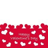 Karte für Valentine& x27; s-Tag stockfoto