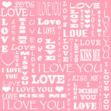 Karte für Valentine& x27; s-Tag lizenzfreies stockbild