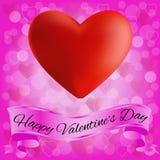Karte für Valentinstag. Lizenzfreie Stockfotos