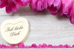 Karte für Valentinstag Lizenzfreie Stockbilder