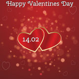 Karte für Valentinstag vektor abbildung