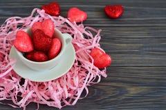 Karte für Valentinstag Stockfotografie