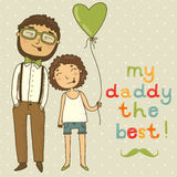 Karte für Vatertag stock abbildung
