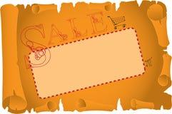 Karte für Verkauf Lizenzfreies Stockbild