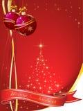 Karte für Weihnachten Lizenzfreies Stockbild