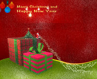 Karte für Weihnachten lizenzfreie abbildung