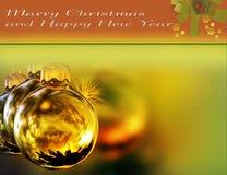 Karte für Weihnachtsdekor lizenzfreie abbildung