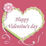 Karte. Glücklicher Valentinstag. Lizenzfreies Stockfoto