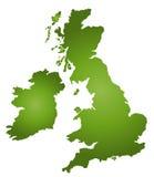 Karte Großbritannien lizenzfreie abbildung
