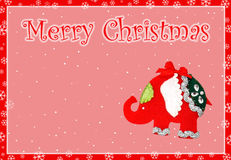 Karte heiraten Weihnachten Lizenzfreies Stockfoto